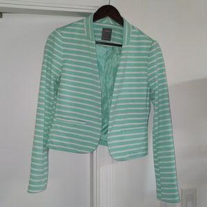 3/$25 - Tiffany green striped blazer for Easter